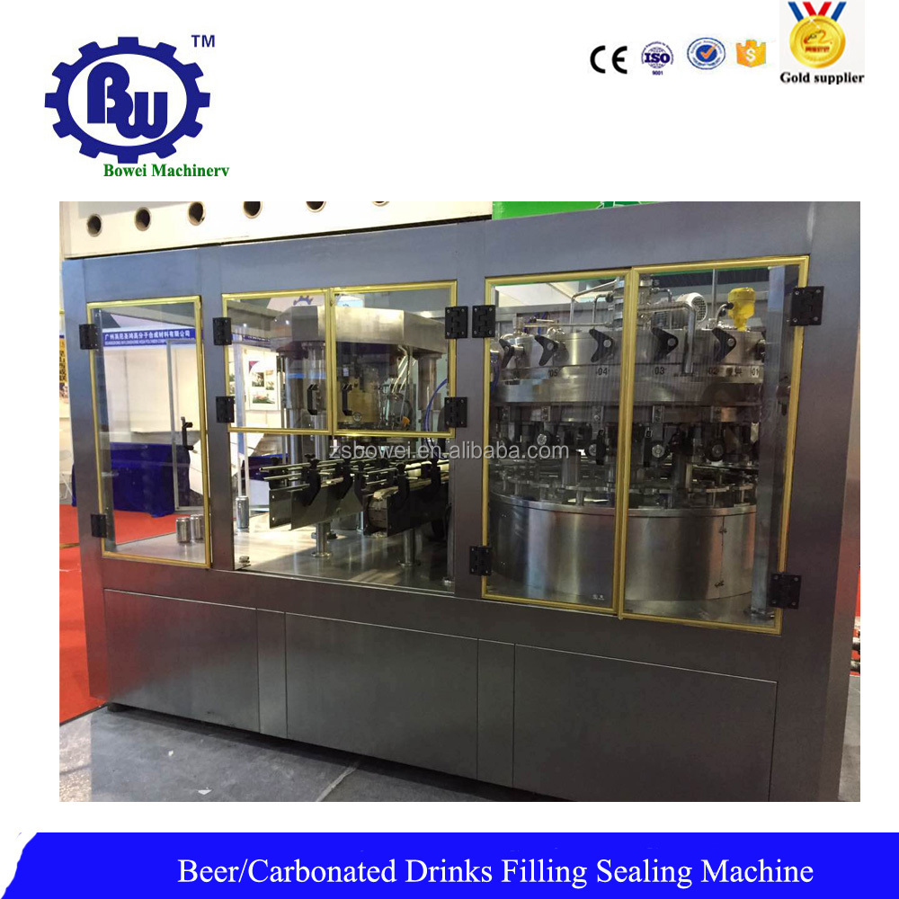 Automatic Equal Pressure Soda Can Filling Sealing Machine with Factory Price