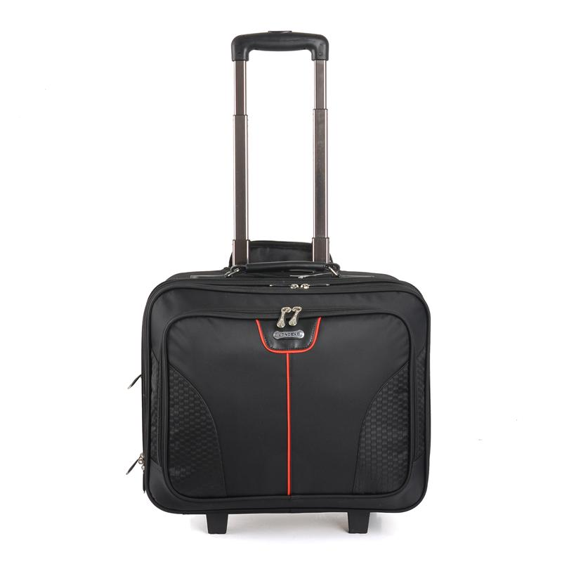 Newest Business Style Leisure leather laptop trolley bags With Multi Function