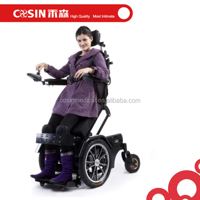 electric power reclining standing wheelchair for disabled