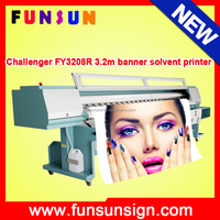 Cheap price challenger 3.2 meter large-format flex solvent printer ( 510/35pl heads,professional)