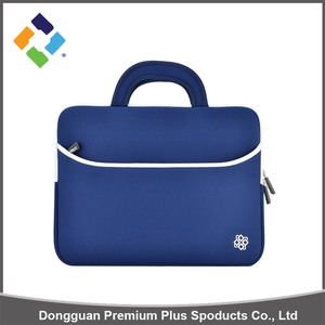 2018 China supplier factory-price neoprene laptop bag with handle pocket