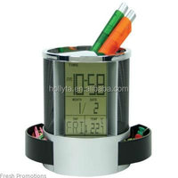 HC-201A Digital Clock with Calendar Temperature Desktop,Digital Calendar Clock with Pen Holder on Alibaba China Market