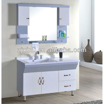 X6619 High Quality Bathroom Ceramic Bowl Solid Wood Cabinet