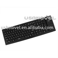 USB silicone computer keyboard built in mouse