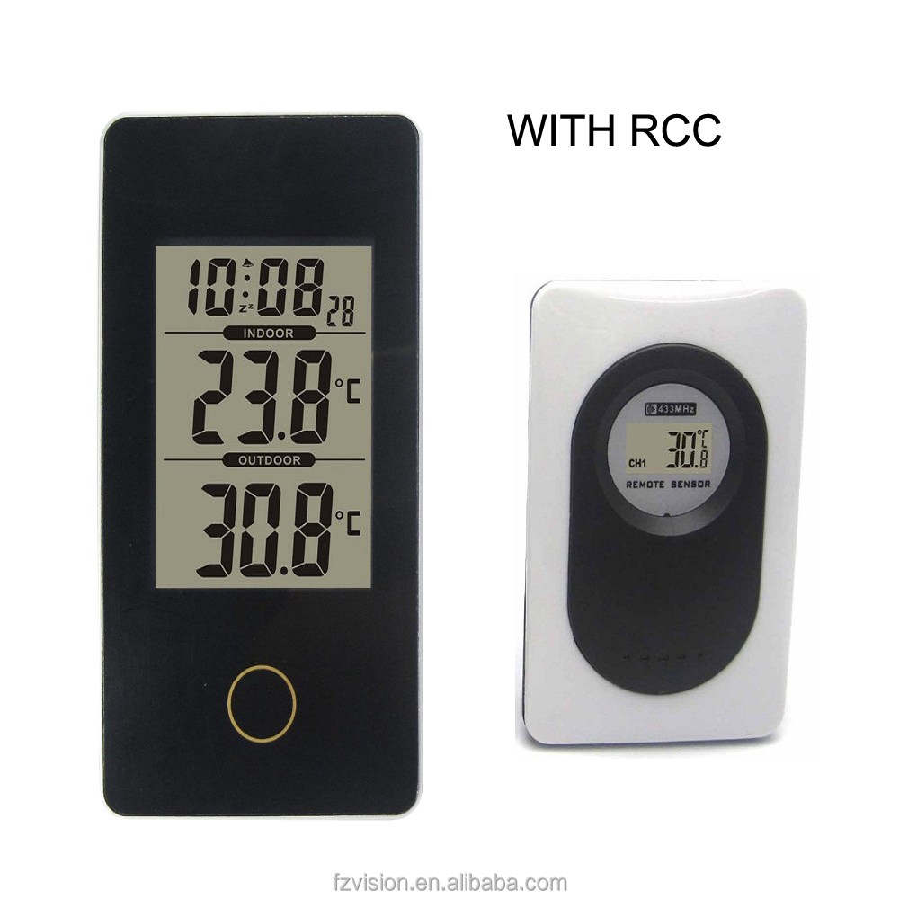 Portable Weather Station RCC with Indoor Outdoor Thermometer Monitor Digital Alarm Clock weather forcast