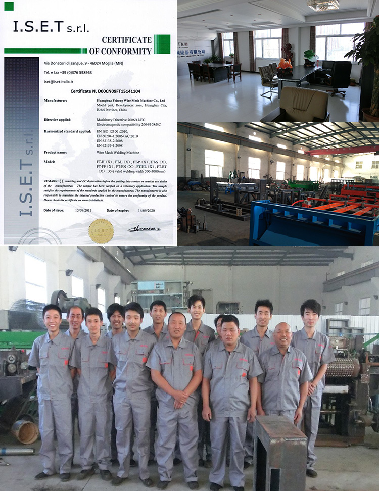 Oil pipeline mesh welding machine