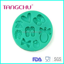Princess Skirt Sandals Bow -tie Perfume Love Shape Cake Mold Food-grade Soap SIlicone Moulds Wedding Decoration Kitchen Tools