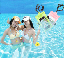 2015 Smart Phone Songkran Swimming Rafting Three Sealed Waterproof Phone Bag