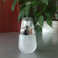 30ml water drop shaped unique luxury cosmetic glass bottle