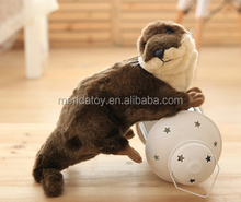 new design hot sell Lovely lifelike Animal Doll Plush otter Toy with ball