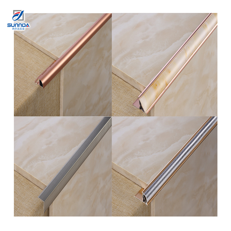 Foshane factory 6mm plastic inside schluter metal trim <strong>tiles</strong>, edging bathroom corner aluminum transition wall strips <strong>tile</strong> trim
