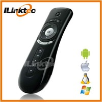 Ergonomic design air mouse mini keyboard wireless remote controls for led lcd tv
