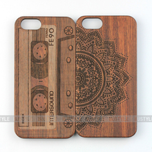 3D laser engraving bamboo wood case for iphone 6 for iphone 7 for iphone 6 plus for samsung note cases galaxy s6 edge case
