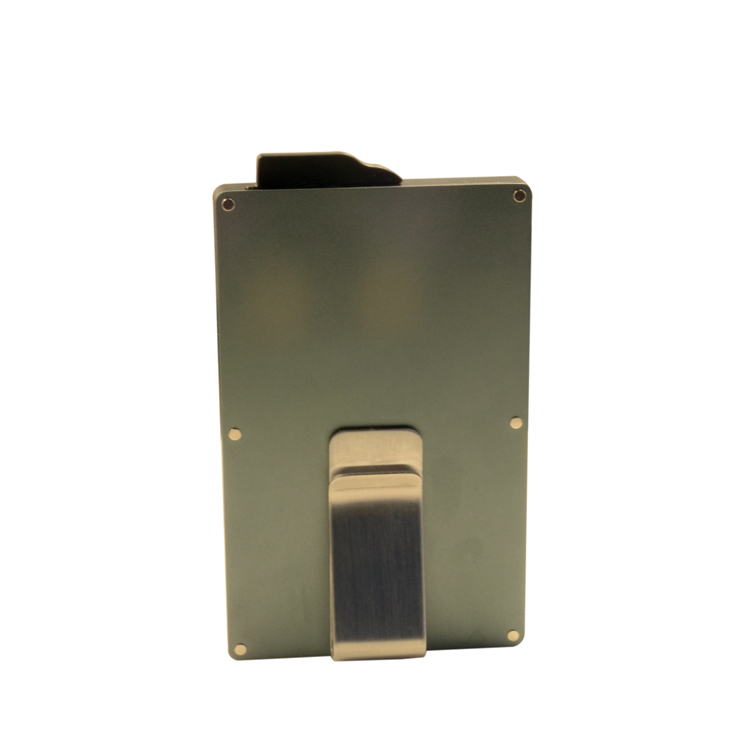 Excellent aluminum metal automatic business card holder credit card case with money clip