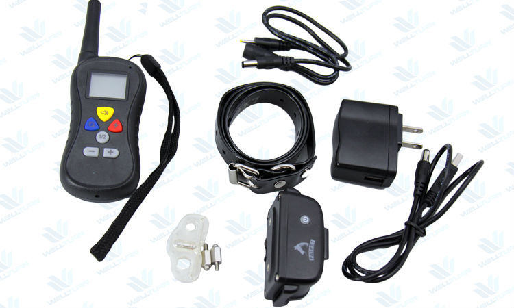 rechargeable remote LCD electronic no bark dog collar PTS-018