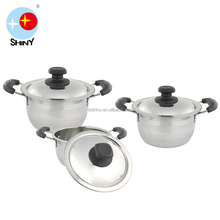 SHINY B088 SS houseware cookware set for family
