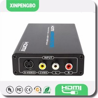 2015 hot selling s-video vga rca to hdmi converter