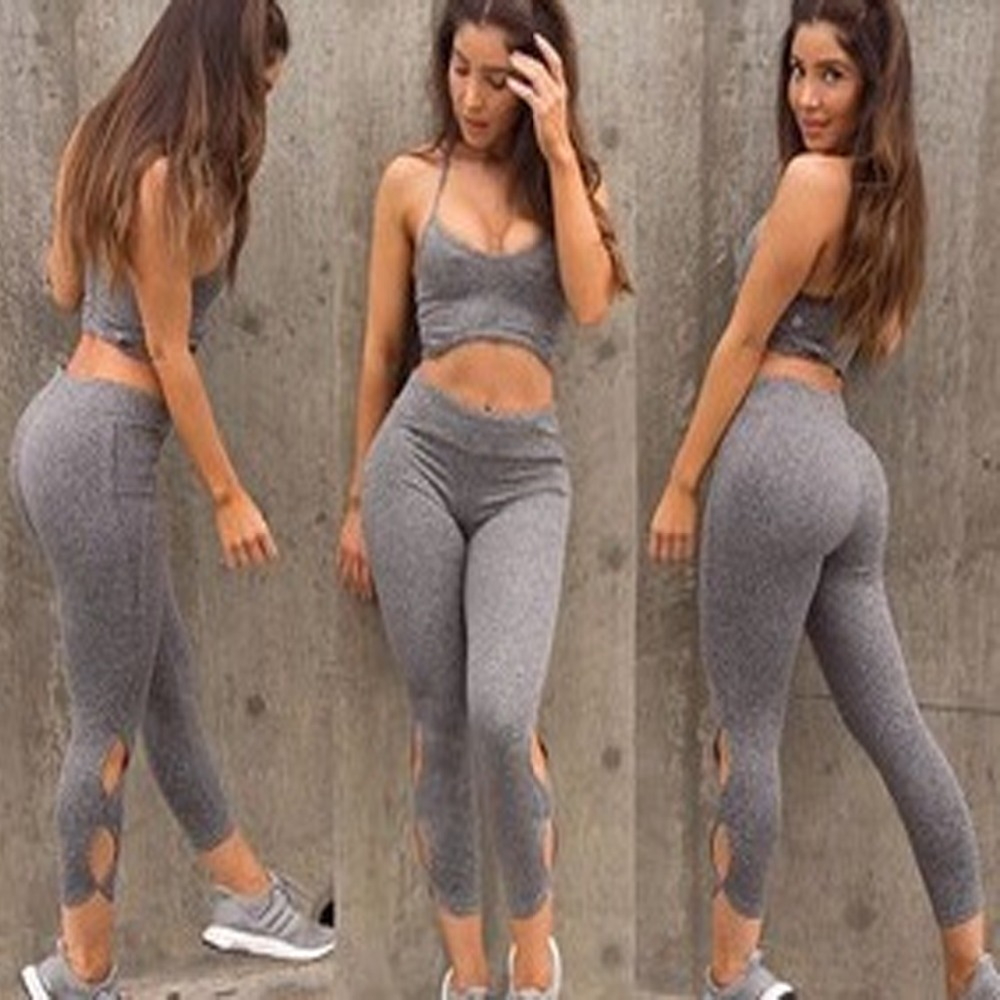 ZH0098G Women Yoga Set Running Bra & Pants Gym Workout Fitness Clothes Tights SportsWear