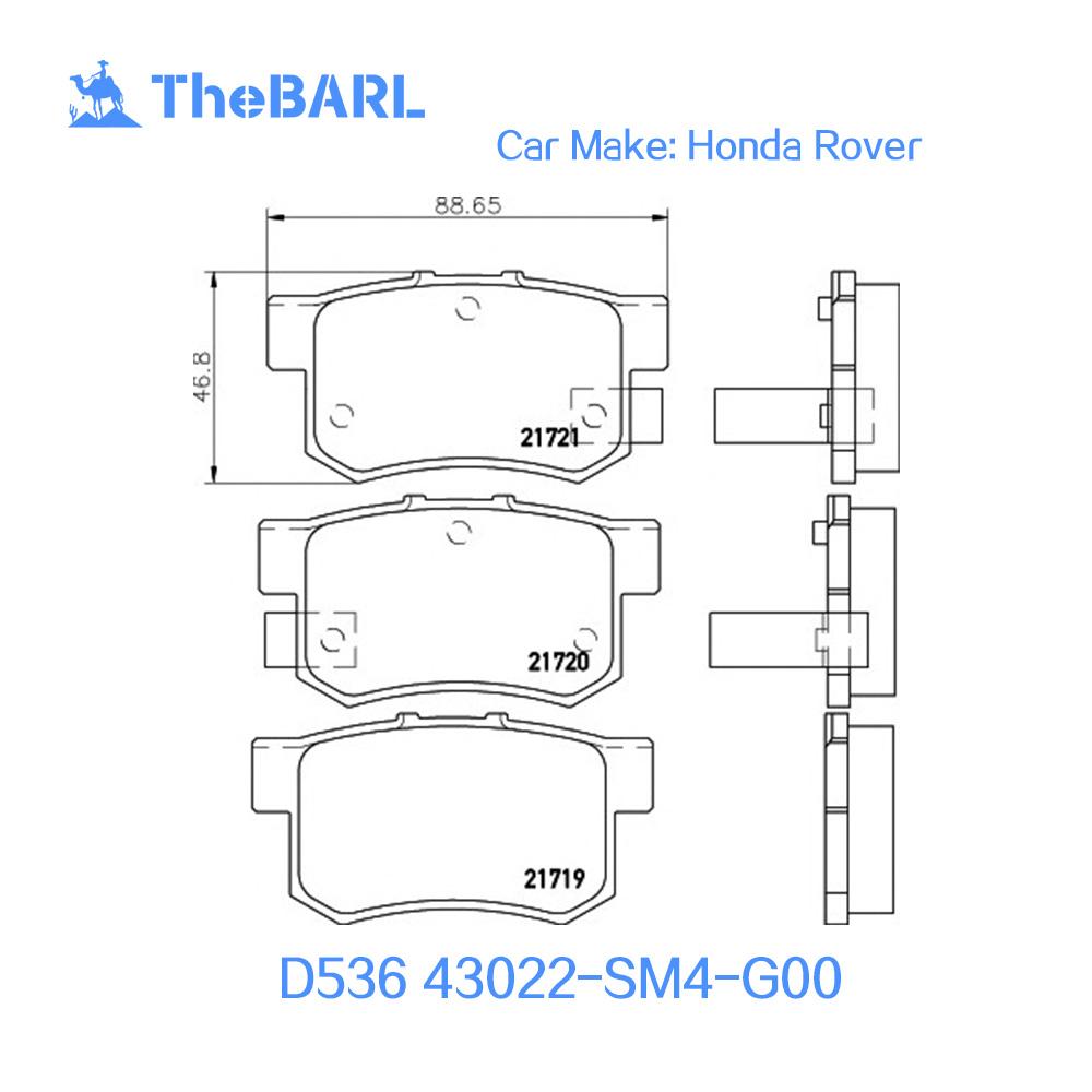 D536 Auto Rear Semi Brake Pad For Legend Civics Mk5 Element Frv Rover Brakes Diagram Inspire Ddyssey Mpv Stepwgn Stream Buy Rearbrake