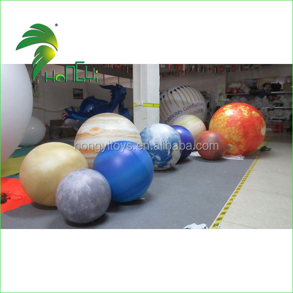 Hanging Nine Planets Inflatable Balloons , Inflatable Solar System For Sale
