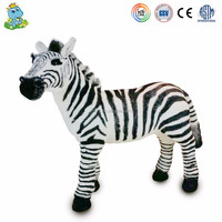 24inch Life Size Animated Plush Zebra Animals Toys Zoo Stuffed Animals