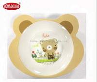 Factory price cute bear shape non-toxic plastic bowl for kids