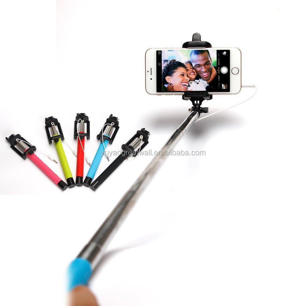 z07 5 f foldable selfie stick monopod cable take pole monopod selfie stick extendable monopod. Black Bedroom Furniture Sets. Home Design Ideas