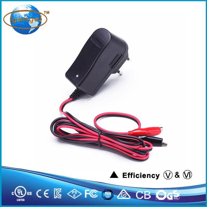 custom made portable intelligence and smart universal 9v 1a lead acid electric car battery charger