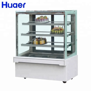 Huaer factory bakery refrigeration cake cabinet display fridge