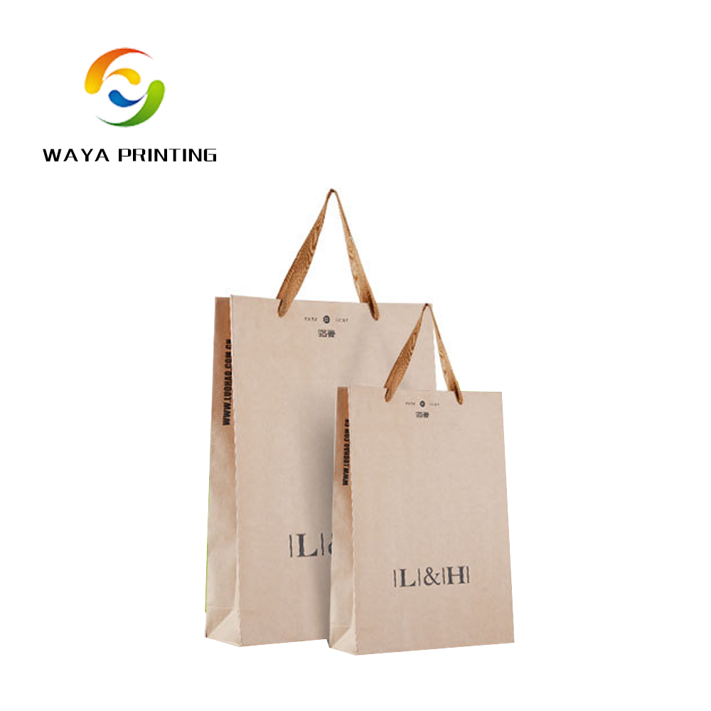 Factory Logo personalized small recycled plain brown kraft paper bags