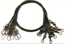 Barrel fishing swivel with interlock snap and wire leader