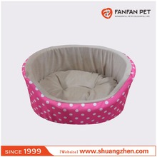 Waterproof oxford pet bed oval basket for dog and cat