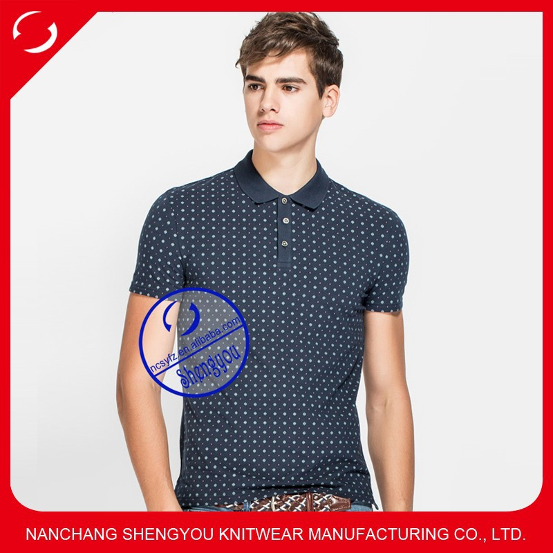 Custom made bulk high quality men's polo shirts with full printing