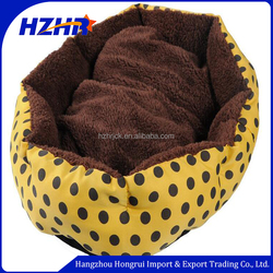 Yellow Cozy nest Soft Warm Fleece Pet Dog bed cage Puppy Cat Bed House Nest