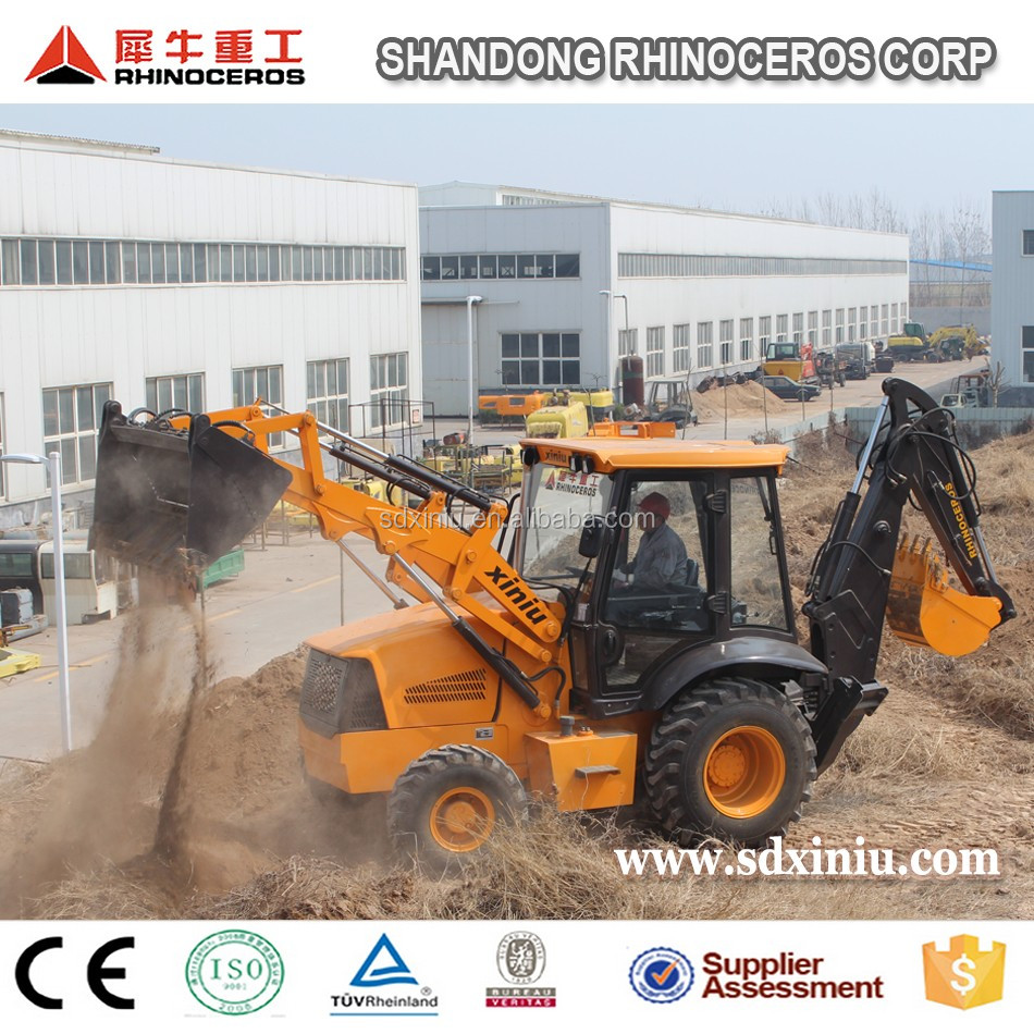 Mini Agricultural Backhoe Loader XN74180 Excavator with Loader