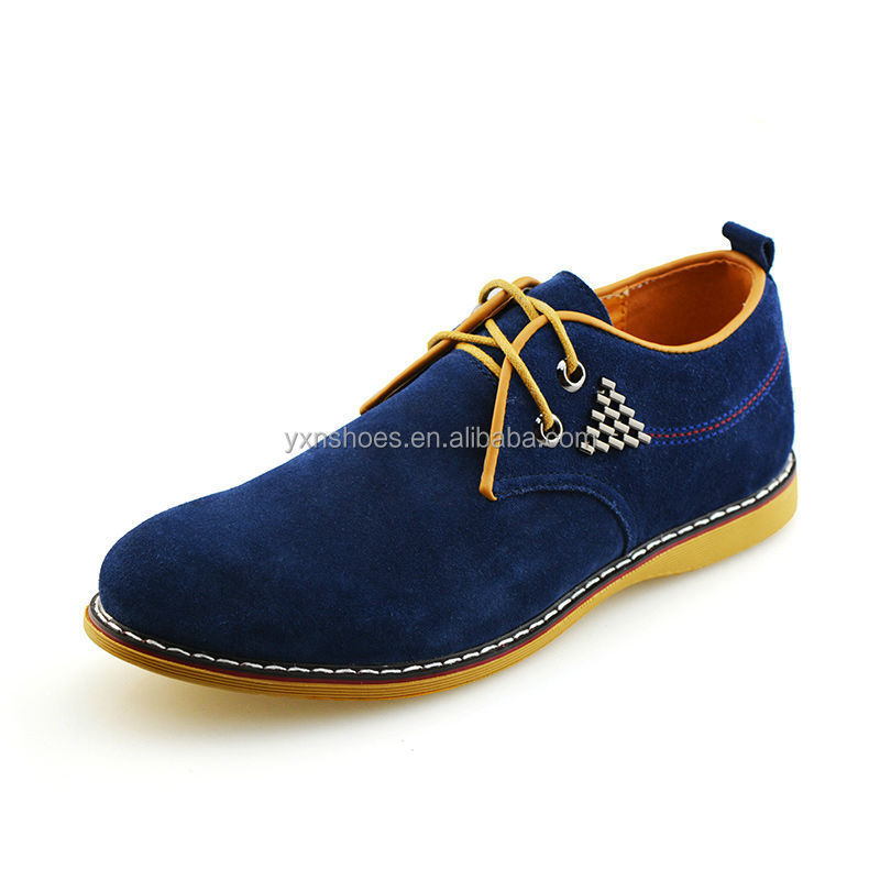 trendy mens logging casual shoes with leather material for