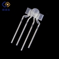 Through hole 3mm rgb nipple led diodes 4-pin tri-color dip led for keyboard lighting