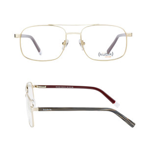 KK1033 2018 New Model Fashionable Latest Branded Manufacturing Gold Metal Combined Eyewear Spectacle Optical Frames Spectacles