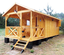 low cost prefab log cabin house wooden house fashion design