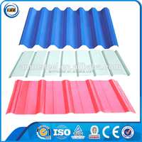 Construction Material prime color coated galvanized roofing prepainted corrugated steel