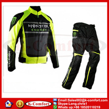 KCM1717 1 SET jacket&pants high quality summer motorcycle racing Oxford waterproof jacket motorcross suit