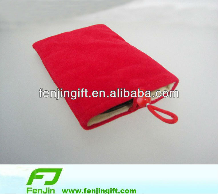 flannelette outer protective case for mobile phone