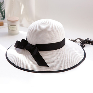2018 top quality wholesale sun hat new style women's summer cap brim straw hats for women beach head wear hat