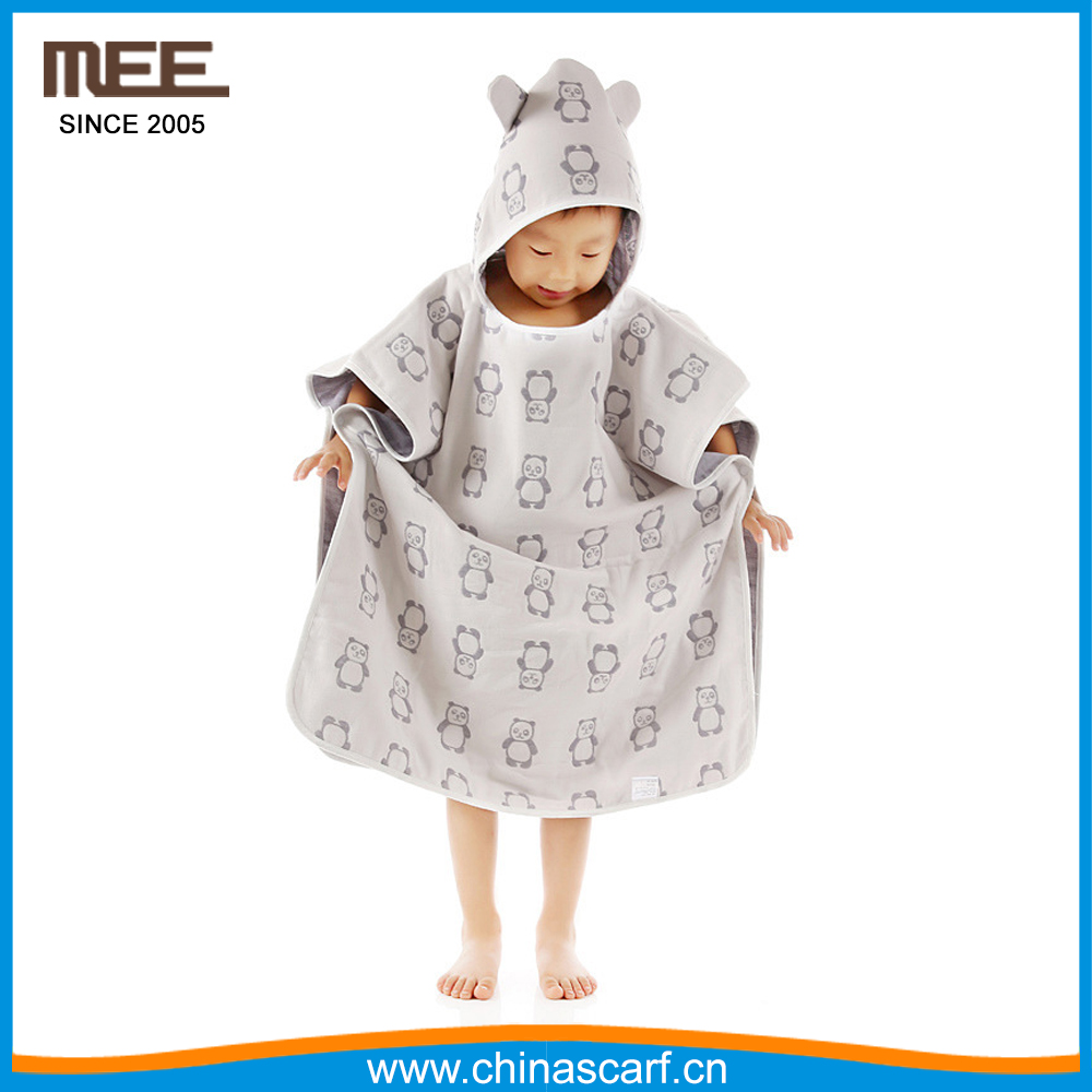 2017 Bamboo Baby Hooded Towel cotton Beach towel for kids