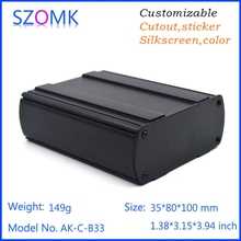 Smart black aluminum case with two panels for GPS tracker 35*80*100mm