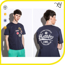 mens embroidered patch custom t shirt printing in china fancy summer t shirt for men