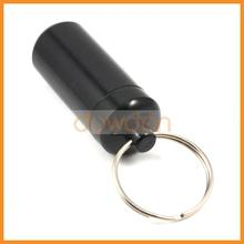 Private Label Custom Pill Bottle Key Chain Waterproof Pill Box Case Bottle