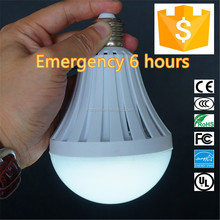 2016 new high efficiency led bulb with built-in battery,smd plastic emergency 5w 7w 9w 12w Led Bulb E27