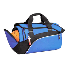 High quality outdoor polyester gym sports bag with ball compartment