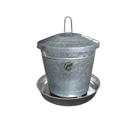 Silver Galvanized Metal Automatic Chicken Feeder For Sale